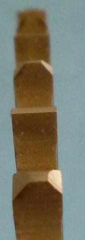 Zuby segmentového kotouče